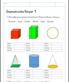 geometrische k rper 3 klasse deutsch klassenarbeiten mathe erste klasse mathematik. Black Bedroom Furniture Sets. Home Design Ideas