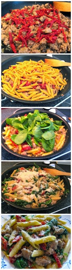 Skillet Penne and Sausage