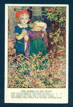Millicent Sowerby postcard Babes in The Wood | eBay