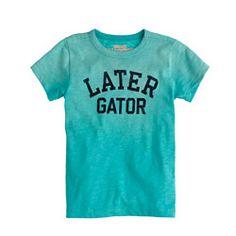 Boys' later gator tee
