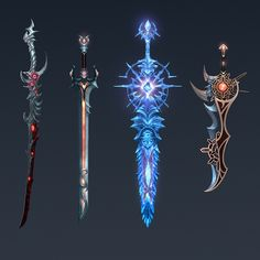 Dungeon Heroes-weapons concept_