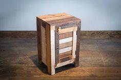 TABLES DE NUIT - Table de chevet en bois recyclé balan - Espace Meuble
