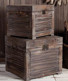 Wooden Trunk Set