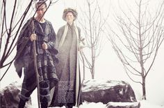 DAMIR DOMA Men's Autumn Winter 2012-13 woolen cape and jacquard trousers featured in the December issue of VOGUE Germany.