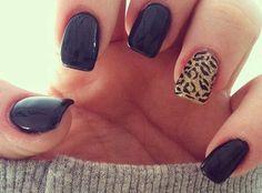 unas decoradas negro, nail design