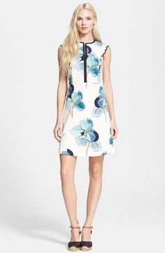 Tory Burch 'Edith' Floral Print A-Line Dress available at #Nordstrom