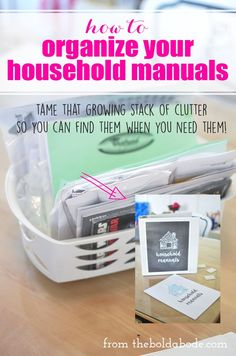 How to Organize Your Household Manuals with Free Printable for your Binder!
