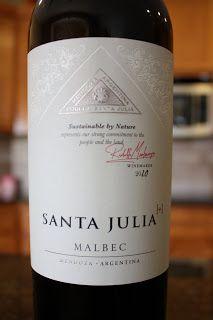 Santa Julia Malbec... delish