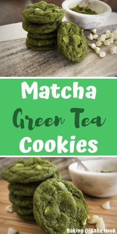 While this Matcha Green Tea Cookie recipe isn't healthy, it is easy and oh-so delicious! Perfectly chewy and sweet, and studded with white chocolate chips, this is the best of the green tea cookies! Plus, that green color is perfect for St. Matcha Cookies, Matcha Cupcakes, Matcha Dessert, Matcha Cake, Green Tea Dessert, Matcha Bowl, Banoffee Pie, Tiramisu Trifle, Matcha Chia Pudding
