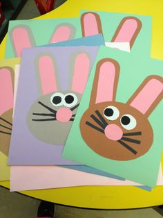 Doodle Bugs Teaching: Cute bunny craft with free patterns in her TPT store