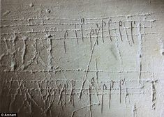 Music: These lines of notes (which have been digitally overlayed for the sake of clarity) were scratched into the walls of Norwich Cathedral in the medieval period.
