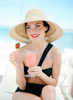 A Strawberry Margarita at Coral Casino Beach and Cabana Club | Four Seasons Santa Barbara | photos: JoseVilla
