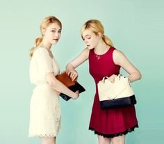"""ELLE FANNING PHOTO SHOOTS   ... New Outtake with Dakota And Elle Fanning for """"J. ESTINA"""" Photo Shoot"""