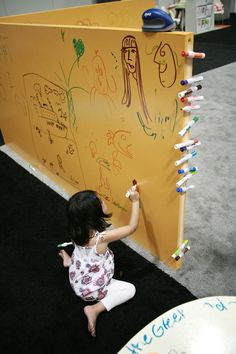IdeaPaint whiteboard paint - can be applied over any color wall paint.