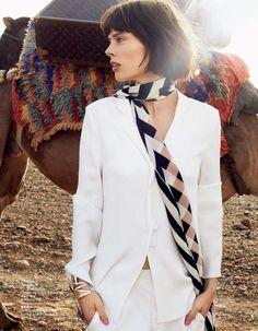 Coco Rocha por Benoit Peverelli para Elle China Novembro 2014 #skinnyscarf