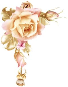 - Blog de OA-ga-KlA-A-ikovA - Skyrock.com Golden Wallpaper, Flower Wallpaper, Decoupage Vintage, Decoupage Paper, Art Floral, Flower Frame, Flower Art, Exotic Flowers, Beautiful Flowers