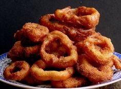 Pancake Batter Onion Rings with Wasabi Garlic Mayo