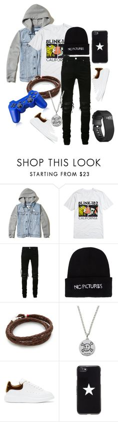 """""""God, there are three fools in our house ..."""" by cherry-panda on Polyvore featuring Hollister Co., Hot Topic, AMIRI, Nasaseasons, MIANSAI, Gucci, Alexander McQueen, Givenchy, Fitbit и men's fashion"""