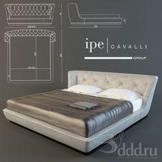 """PROFI"" ipe cavalli ROY 3dsMax 2010 + fbx (Vray) : Кровати : Файлы : 3D модели, уроки, текстуры, 3d max, Vray"