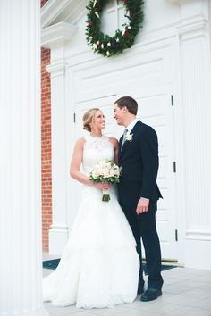 Bride and groom pose Click through to see the full wedding gallery. Caroline Ann Photography College Station Wedding Photographer