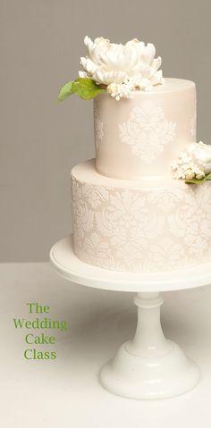 peony wedding cake. beautiful detailing