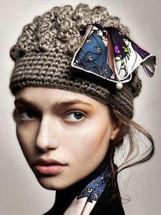 hand-crochet hat by Barbara Agnes
