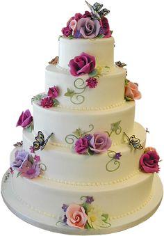 I love this cake ! Wedding Cake Roses, Elegant Wedding Cakes, Take The Cake, Love Cake, Sweet Cakes, Cute Cakes, Beautiful Cakes, Amazing Cakes, Gateaux Cake