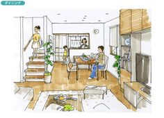 広々とした生活空間を確保したコンパクトな家 | 間取りプランニング | すむすむ | Panasonic House Plans, Sweet Home, Floor Plans, How To Plan, House Beautiful, House Floor Plans, Floor Plan Drawing, Home Plans
