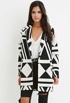 Geo-Patterned Coat