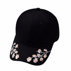 """""""BLOSSOMING"""" CAPS Bone Bordado, Snapback Caps, Painted Hats, Hat Embroidery, Embroidered Hats, Flower Hats, Cute Hats, Girl With Hat, Summer Hats"""