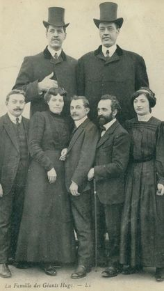 The Hugo brothers sideshow Giants from the Alps postcard c. 1910s.