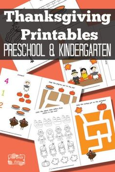 Thanksgiving Pre-K and K Printables