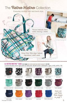 New purses August 2013. How can you say no to these cute patterns????? www/mythirtyone.com/thansen