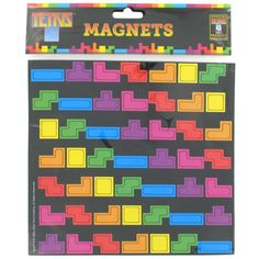 Who says that you need to be in front of a screen to play a classic game of Tetris? With these Tetris Fridge Magnets your refrigerator becomes an old school Yellow Octopus, Tetris, Magnetic Toys, Boutique Deco, Classic Video Games, Take My Money, Paperchase, Refrigerator Magnets, Geek Gifts