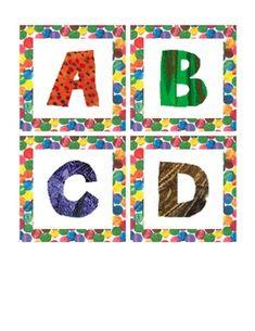 Eric Carle inspired alphabet set