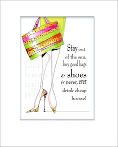 Illustrated shoe print with funny shoe humor by VanityGallery, $8.00