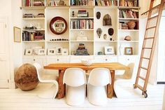 Love the chair/table combo.