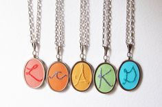 Personalized Bridesmaids Gifts Initial by merriweathercouncil, $38.00 per necklace.