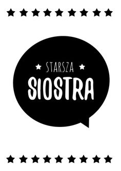 Plakaty brat i siostra - do druku Project Life, Motto, Kids Room, Album, Wallpaper, Logos, Illustration, Prints, Cards