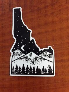 Idaho Sticker, Idaho, State Of Idaho, Idaho Art, Idaho Car Sticker, Scenic Idaho, Boise State, Boise, Idaho by AmericanGreenCrafts on Etsy https://www.etsy.com/listing/505121677/idaho-sticker-idaho-state-of-idaho-idaho