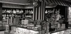 This is the Doll House on the 6th Floor of Lazarus downtown. Loved all the animated clowns on the red stripped supports. Also the chime like tones of the auto call system. This was taken on Nov 23 1955. They closed the store and then completely decorated the store overnight. The Santa parade came down High Street as Santa came to Lazarus. When the store opened on Friday, Santa was in Santa Land and the store was beautifully decorated for the Holiday Season.