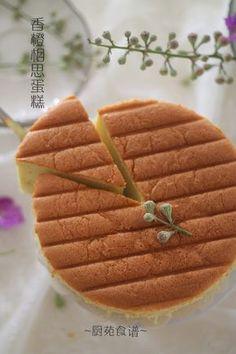 厨苑食谱: 香橙相思蛋糕 (Orange Ogura Cake)