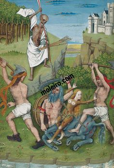 Centaur's death (f. 41v) The Hours of Charles of Angoulême
