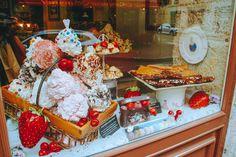 Meringues in Annecy cake shop, France