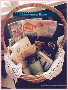 DIY Housewarming Basket - great gift for friends, or realtors to give to their homebuyers!