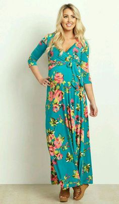 23ce3b4effa This gorgeous floral abstract maternity maxi dress will make you look and  feel great at any