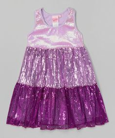 11c78605 Purple Ombré Sequin Dress - Toddler & Girls by Lipstik Girls #zulily # zulilyfinds