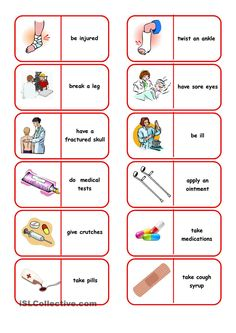 Emergency Situations Dominoes worksheet - Free ESL printable worksheets made by teachers English Games, English Activities, Book Activities, English Resources, English Verbs, English Vocabulary, Teaching Spanish, Teaching English, English Lessons