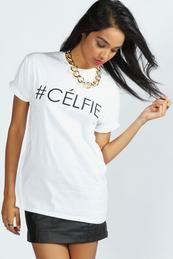 Lola #Celfie Slogan Oversize Tee