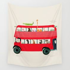 Buy The big red bus Wall Tapestry by bribuckley. Worldwide shipping available at Society6.com. Just one of millions of high quality products available.